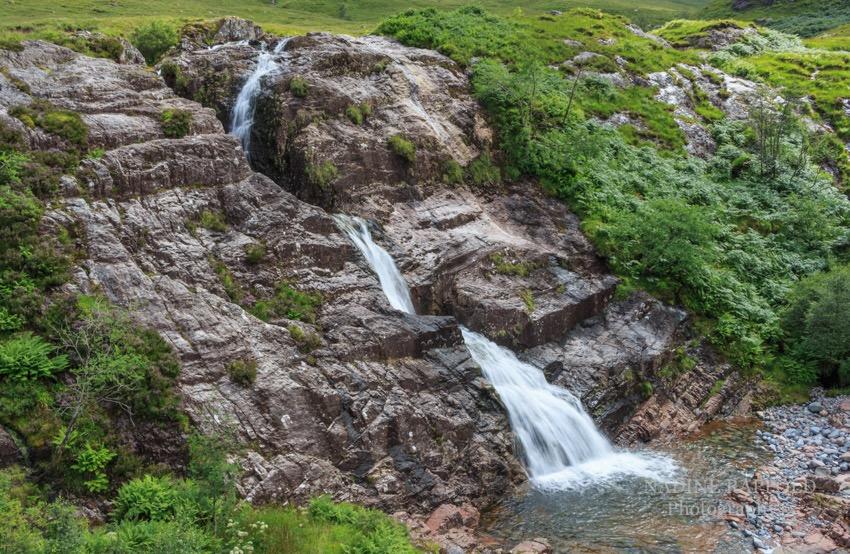 Glencoe Falls, Highlands, Schottland