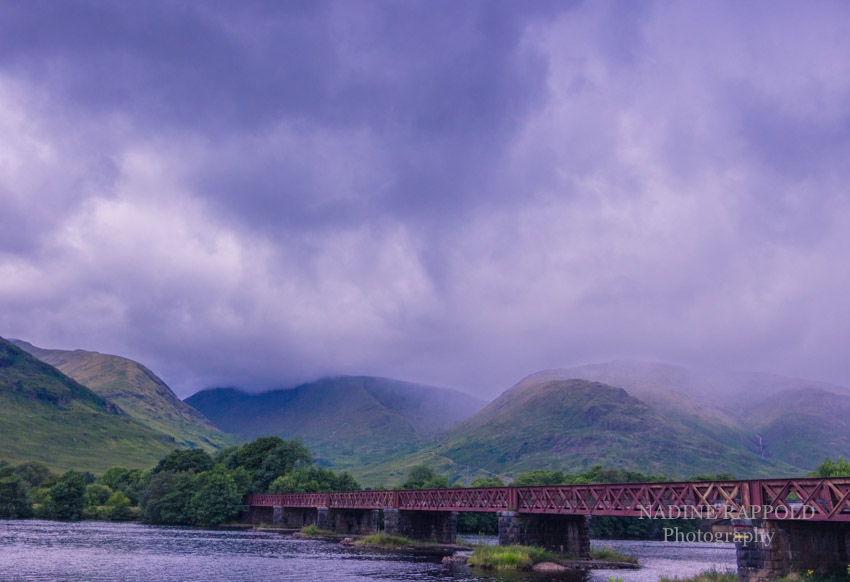 Loch Awe Railway Bridge in den schottischen Highlands, Schottland