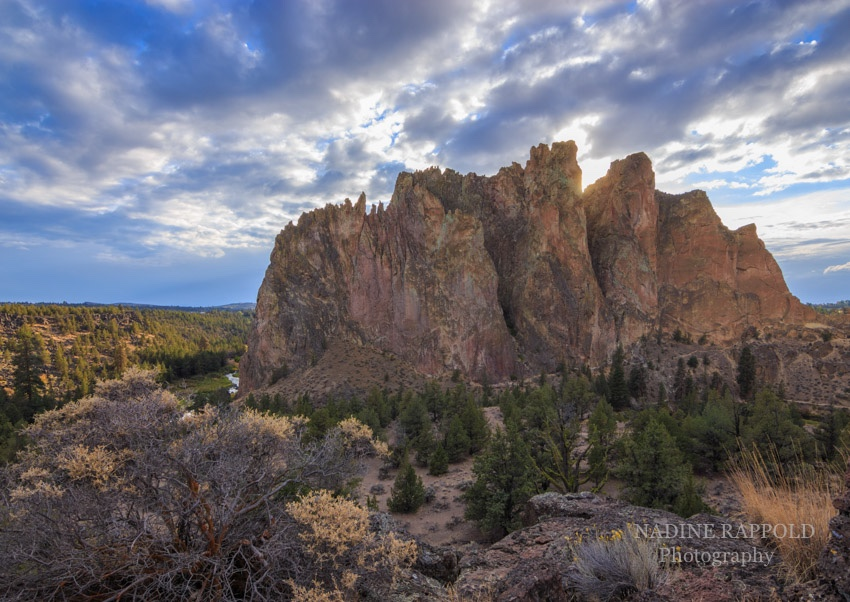 Smith Rock Sonnenuntergang in Oregon, USA