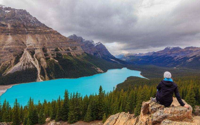 Peyto Lake Selfie in Kanada