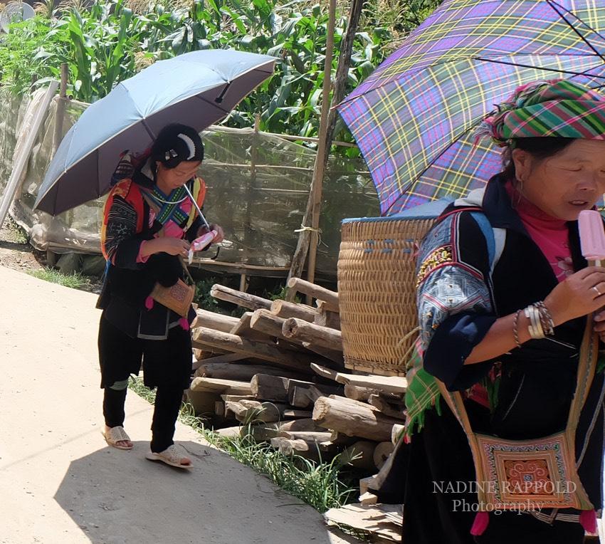 Sapa Vietnam Frauen Ethnische Minderheit Eis