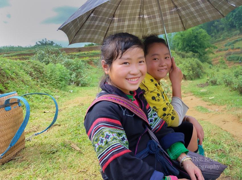 Sapa Vietnam Mädchen Ethnische Minderheit