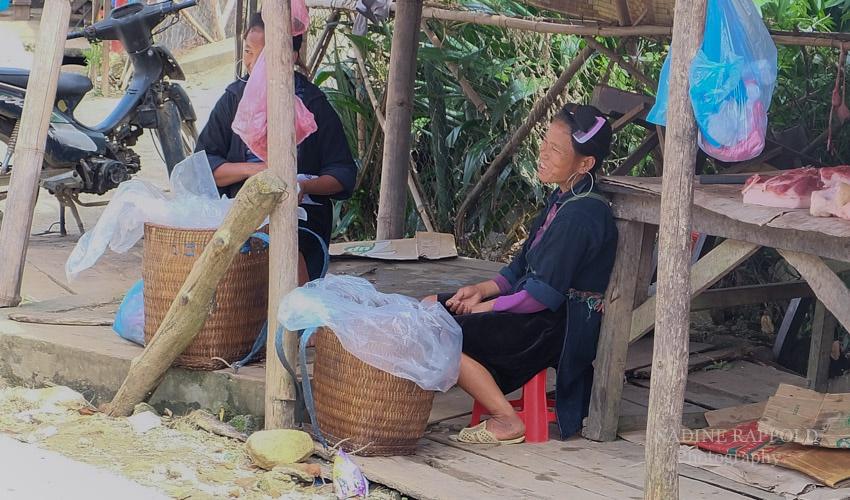 Sapa Vietnam Frauen Verkäuferin Fleisch