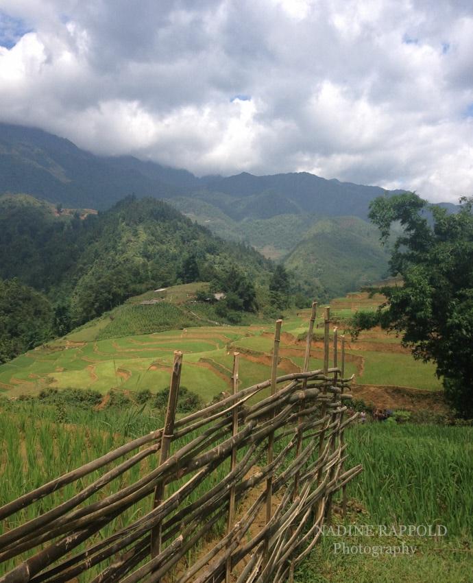 Sapa Vietnam Landschaft Zaun Wolken