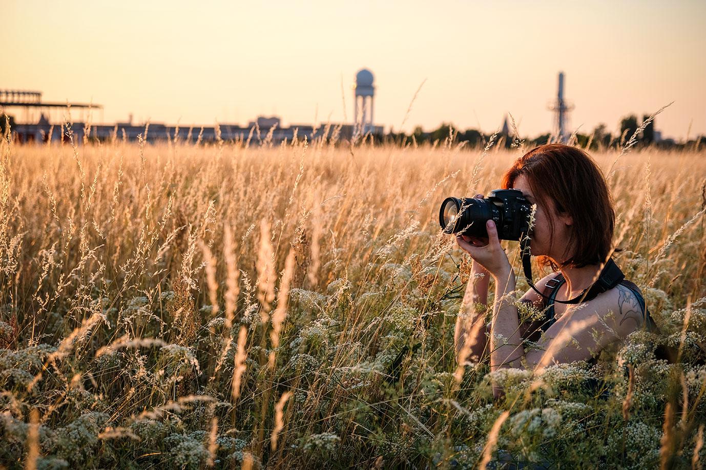 Fotografin Tempelhofer Feld Abendrot