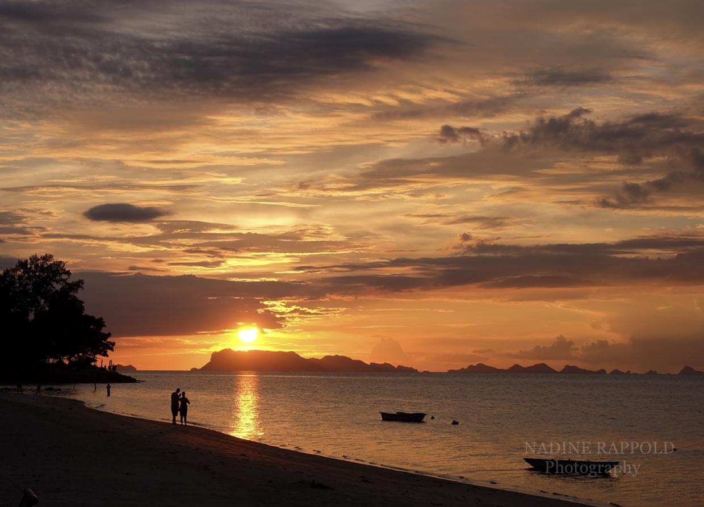 Koh Samui Sunset Ocean Water Clouds