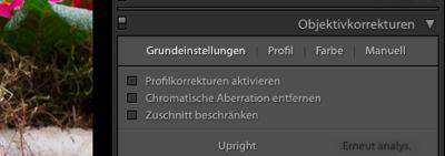 Kamera Objektiv Guide Bildbearbeitungsprogramm Profilkorrektur