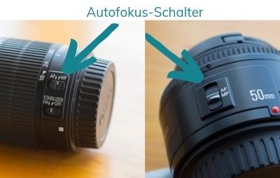 Kamera Objektiv Guide Autofokus-Schalter