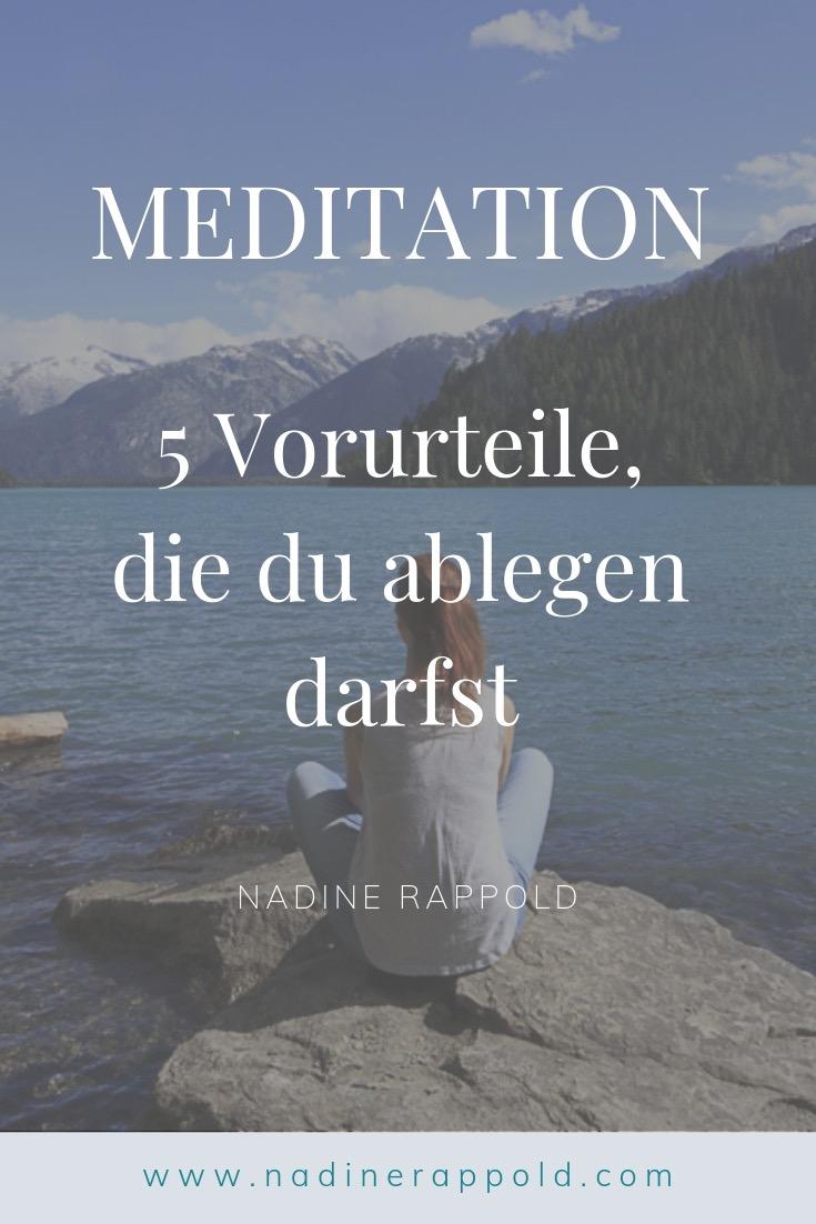 Meditation Vorurteile ablegen Pinterest