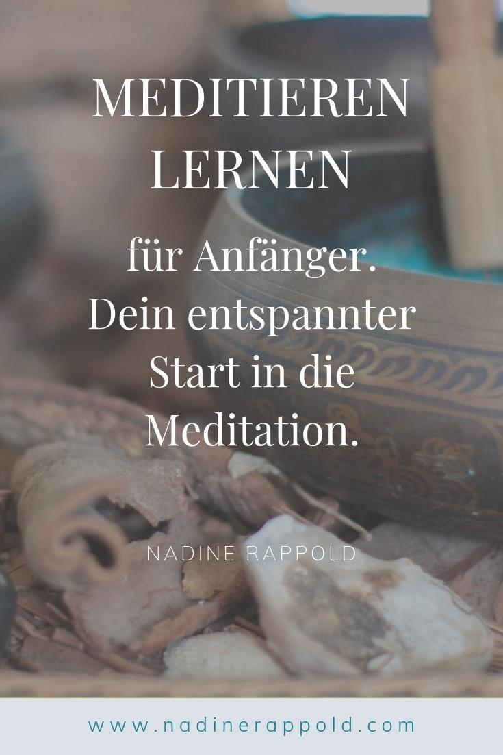 Meditieren lernen Anfänger entspannter Start Pinterest