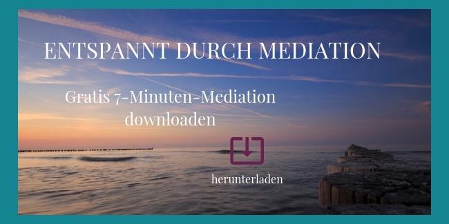 Entspannt durch Meditation geführte Meditation